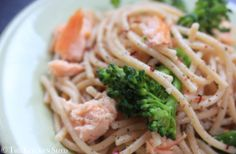 Clean Eating Salmon Broccoli Spaghetti #cleaneating #eatclean #omega3