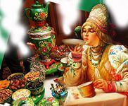 Russian Ivan Tea - according to Russian tradition to drink tea from the saucer