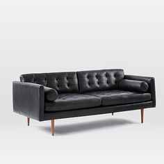 Monroe Mid-Century Leather Sofa #westelm