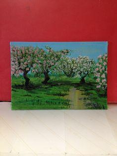 Orchard 5x7 acrylic