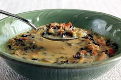 This Minnesota Wild Rice Soup looks great!  I making this tomorrow for Monday's dinner fo' sure!