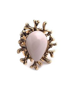 Coral Stone Ring from The Shopping Bag
