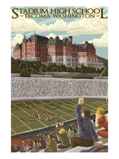 Tacoma, Washington - Stadium High School Print at AllPosters.com