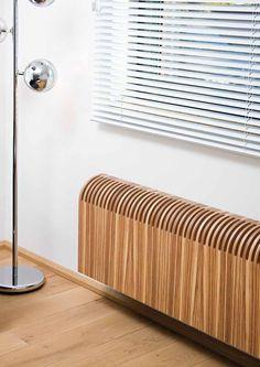 Jaga Knockonwood Wandmodell - der erste Heizkörper der durch Wahl des Holzfurniers perfekt zum Holzboden passt, Verkleidung aus echtem Mehrschichtholz, vormontiert