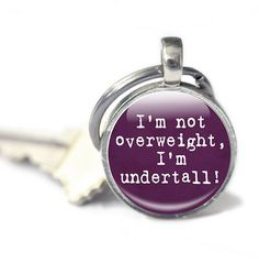Weight lose keyring weight humour keyring purple by GlassArtDreams, £9.99