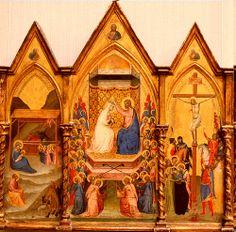 Couronnement de la Vierge BERNARDO DADDI (Firenze, 1290 circa – Firenze, 1348) #TuscanyAgriturismoGiratola
