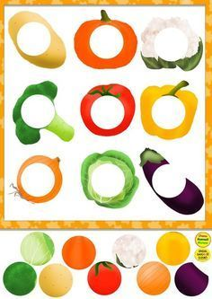 Preschool puzzle - Food themed, farmers market, color and texture recognition