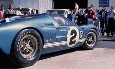 Sebring 1966 winner . Dan Gurney / Jerry Grant Shelby Ford GT40 Mk. II in the paddock
