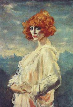 "Augustus John(1878-1961): "" the Marchesa Casati"",[38 y] 1919 , oil on canvas, 96,5x68,6 cm , Art Gallery Ontario ,Toronto ."