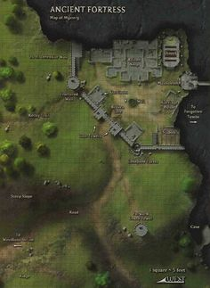 """wesschneider: """" ancient-lands: """" A generic dungeon map from Paizo's Dungeon Magazine. Remember Maps of Mystery from Dungeon? Fantasy City Map, Fantasy Castle, Fantasy Places, Medieval Fantasy, Plan Ville, Pathfinder Maps, Rpg Map, Adventure Map, Dungeon Maps"""