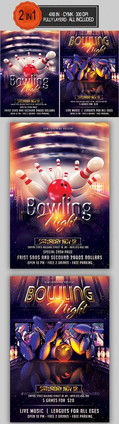 Anniversary Flyer Template PSD Flyer Templates Pinterest - bowling flyer template free
