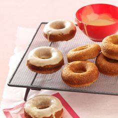 Gluten-Free Apple Cider Doughnuts Recipe from Taste of Home -- shared by Kathryn Conrad of Milwaukee, Wisconsin