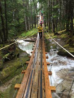 Suspension bridge - Skagway, Alaska