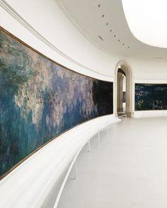 オランジュリー美術館。別名、モネ美術館。 モネの大作『睡蓮』が、自然光で拝める美術館だ。