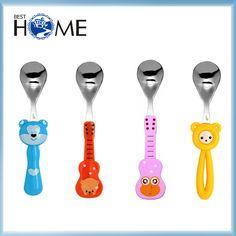 Custom Animal Handle Stainless Steel Plastic Cartoon Spoon for Kids