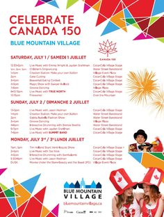 BMVA - Canada Day Celebrations Make Your Own Buttons, Stuff To Do, Things To Do, Canada 150, Mountain Village, Blue Mountain, Live Music, Celebrations, Day