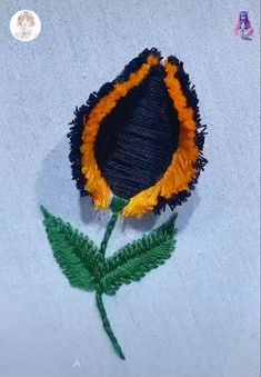 Diy Embroidery Patterns, Hand Embroidery Videos, Flower Embroidery Designs, Creative Embroidery, Crochet Flower Patterns, Hand Embroidery Stitches, Embroidery For Beginners, Embroidery Techniques, Beginning Embroidery