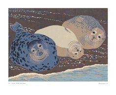 'Grey Seals' by Robert Gillmor (A434)