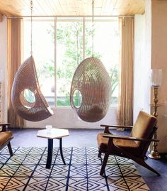 playing with the idea of hanging chairs