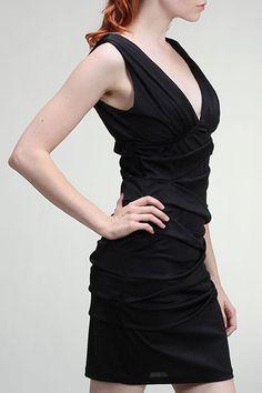 Deep V Little Black Dress