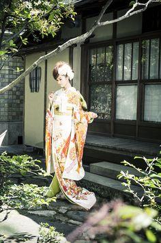 引振袖 白地熨斗柄 Hiki Furisode Shiroji Noshigara