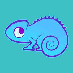 Little Blue Chameleon Karianne Hutchinson Illustration vector illustrator reptile lizard