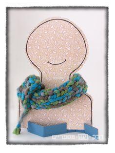 Day#26:   display for crocheted bagel scarf at HwoDoYouDoIt  https://www.etsy.com/shop/HowDoYouDoIt?ref=pr_shop_more