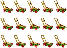 Lawn Mower Images Printable Life Planner Stickers by 641Digital