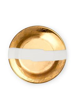 KELLY WEARSTLER | DOHENY SALAD PLATE. Fine china with 22k gold.