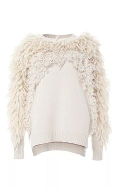 Textured Crew Neck Sweater by Adam Lippes for Preorder on Moda Operandi