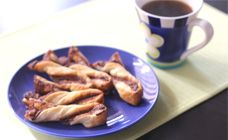 Nutella Twists Recipe - After school snacks.  Assembling disguised as baking for the win!