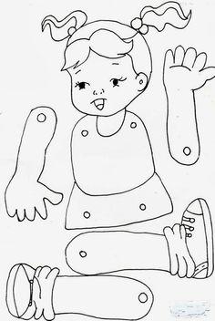 Jardín Actividades E Ideas, Actividades Ideas - Diy Crafts - maallure Body Parts Preschool Activities, Preschool Body Theme, Activities For 5 Year Olds, Preschool Worksheets, Preschool Crafts, Toddler Activities, Crafts For Kids, Preschool Activity Sheets, Diy Crafts