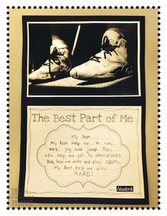 Writing activity to go with the book The Best Part of Me by Wendy Ewald. Free printable template included in the post.