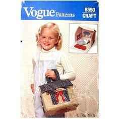 Folding Doll House Pattern Vogue 8590 by finickypatternshop