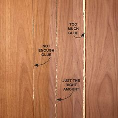 The Right Amount of Glue - How to Glue Wood: Speed up your woodworking projects, improve the quality of glue connections and make your project look better with these tips for gluing wood. Read more: http://www.familyhandyman.com/woodworking/wood-joints/how-to-glue-wood