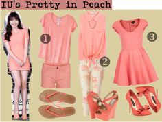 """""""Pretty in Peach"""" by floriestyle on Polyvore"""