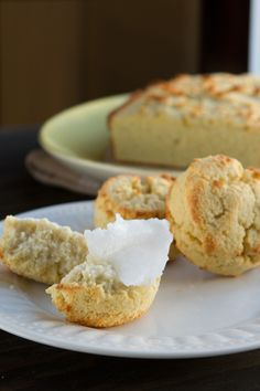Low-Carb Coconut Flour Biscuits or Bread (grain-free, paleo, dairy-free + nut-free) #paleo