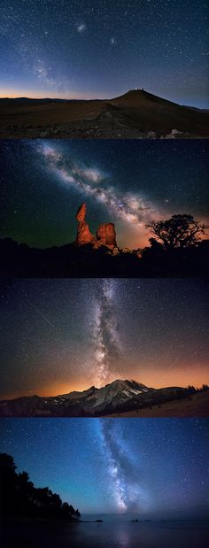Atacama desert, chile, sky, night, stars, the magellanic clouds, the milky way