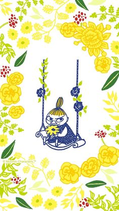 #Moomin Little My Moomin Wallpaper, Pastel Wallpaper, Iphone Wallpaper, Moomin Cartoon, Little My Moomin, Tove Jansson, Moomin Valley, Cute Art, New Art