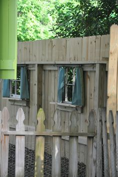 "Windows in fence.  Jane Coslick Cottages : A Little Sunday Fun at ""Tween Waters Cottage"""