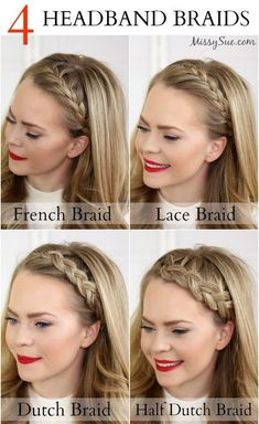 Four Headband Braids