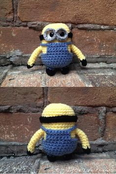 Crochet Pattern: Lil' Minion. I know two little kiddies who would go crazy over these. christmas minions!