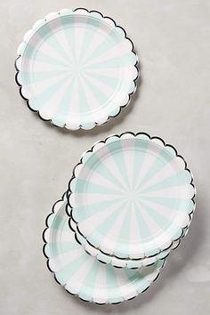 Carnival Stripe Plates - anthropologie.com