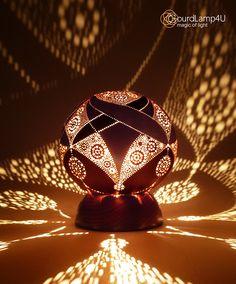 United Hearts Desing Calabash Lamp by GourdLamp4U