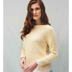 Debbie Bliss Raglan Sweater with Chevron Edging PDF Knitting Magazine, Pullover Sweaters, Women's Sweaters, Cardigans, Knit Patterns, Latest Fashion Trends, Chevron, Sweaters For Women, Style Inspiration