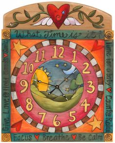 HAND PAINTED CLOCK- STICKS