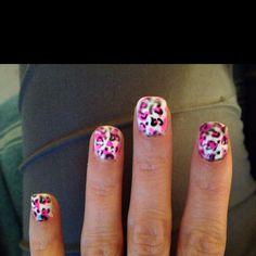 Black & pink leopard.