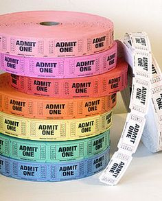 'Admit One' Tickets, Pack Of 50