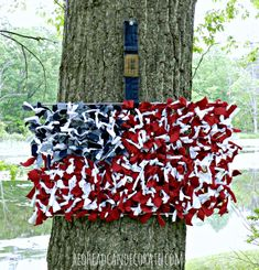 Repurposed Grill Grate to American Flag - Redhead Can Decorate