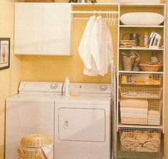 great use of a small space in laundry room
